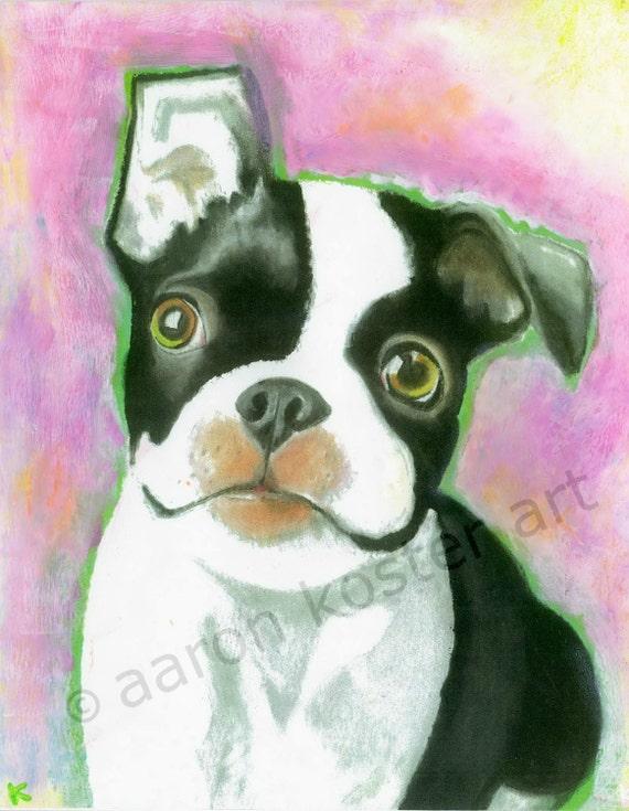 "Panda Abstract Watercolor Painting 11/"" x 14/"" Art Print by Artist DJ Rogers"