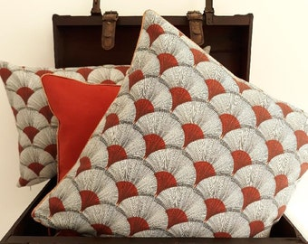 Cushion cover 40 x 40 fabric papyrus red brick
