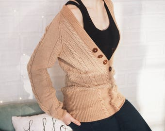 Womens knit pullover hand knit sweater handmade sweater wool sweater hand knit jumper wool knit pullover chic knit sweater jumper