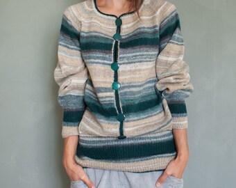 5dc92ca6fe Knit sweater pullover jumper women wool sweater warm sweater boho chic  sweater loose knit sweater bohemian sweater mohair green