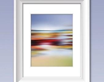 Abstract Art, Modern Art, Contemporary Art Print, COLOR FIELD LANDSCAPE #3,  Abstract Color Print, Color Field Artwork, Minimalist Art Print