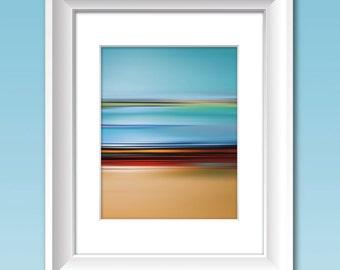 Abstract Art, Modern Art, Contemporary Art Print, COLOR FIELD LANDSCAPE #1,  Abstract Color Print, Color Field Artwork, Minimalist Art Print