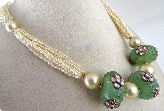 6Pcs Natural Jade Jadeite Gem Beads Silk Cord For Pendant