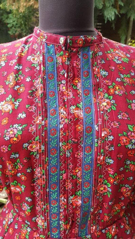 Vintage  folk  dress skirt and blouse , Humgarian… - image 4