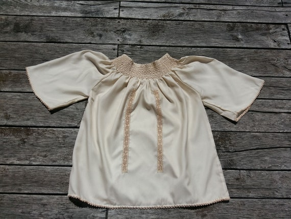 Hungarian handsmocked Peasant blouse,  peasant blo