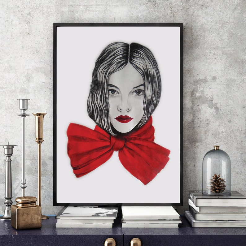 Portrait Print Top Selling Digital Print Modern Art Print Etsy