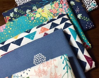 Indie Folk Fat Quarter Bundle ~ Art Gallery Fabric ~ Quilting Cotton ~ Floral Fabric ~ Weave and Woven