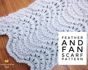 KNITTING PATTERN: Feather & Fan Lace Scarf