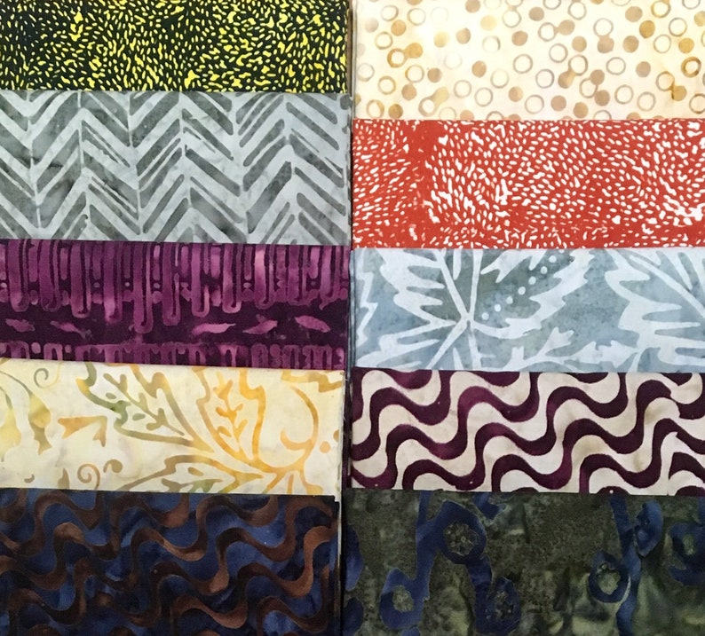 10 BATIK Fat Quarters image 0