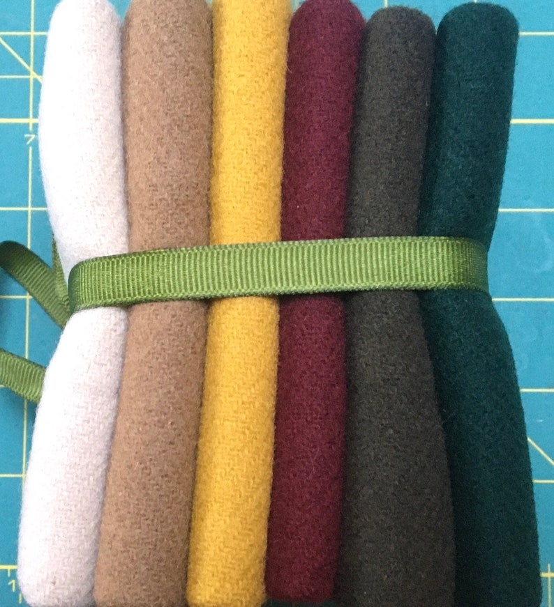 WOOL Fat Quarter Stack MUTED image 0