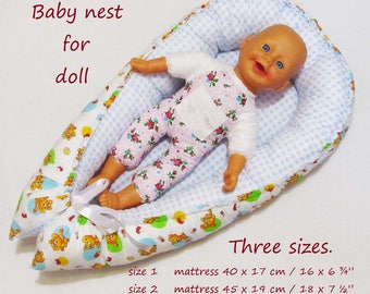 Sewing Pattern Babynest For Favorite Doll Baby Nest Pdf Download Sleep Toy Cot Doll Crib Cot Doll Cocoon