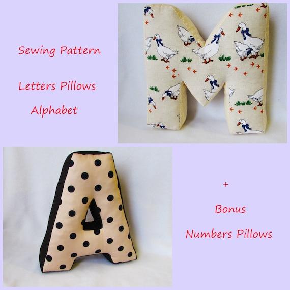 Alphabet Pillows Letterpattern Alphabetpersonalised Letter
