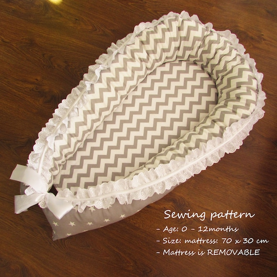 Baby Nest For Newborn Babynest Pdf Download Sewing Pattern Etsy