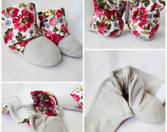 Booties,baby sewing pattern,cloth shoes,warm boots,warm baby booties,crib shoes, baby girl and boy,toddler shoes,baby boots,Fleece Booties.