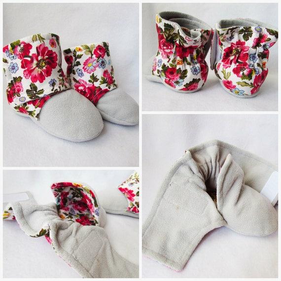 Babyschuhe Baby-Schnittmuster Stoffschuhen warme Stiefel | Etsy