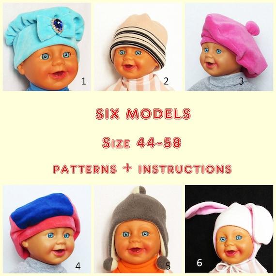 Set de 6 modelos gorras y boinas más caliente para los niños | Etsy