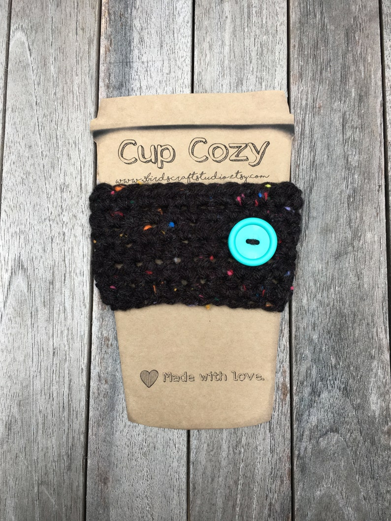 Crocheted tumbler sleeve cup cozy image 0