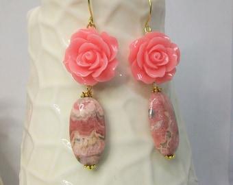 Sand Earrings Roses Mint Mint-Floret Vint