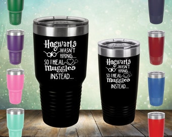 a14445912771 HP Healing Instead - 20 oz and 30 oz Nurse Engraved Ring Tumbler Cup Glass  Nursing student