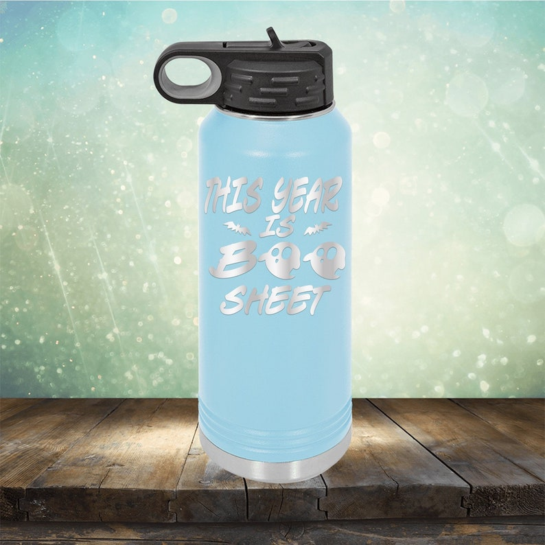 Year 2020 Birthday Gifts Bday Year 2020 Gift for Women Funny 32 oz Engraved Water Bottle with Straw This Year is Boo Sheet