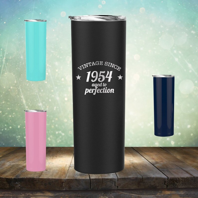 1954 65th Birthday Gifts For Women And Men 20 Oz Skinny