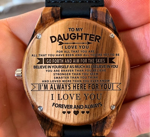 To My Daughter Always Believe In Yourself Engraved Wooden