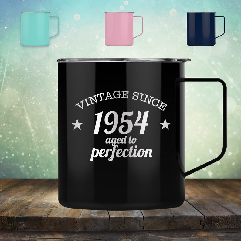 1954 65th Birthday Gifts For Women And Men 14 Oz Coffee