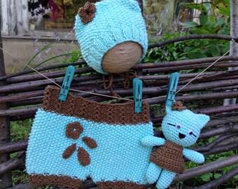 Newborn knit pants Newborn bonnet Knit toy Newborn girl shorts Knit bonnet Newborn knit shorts Newborn shorts Knitted baby shorts Small toy