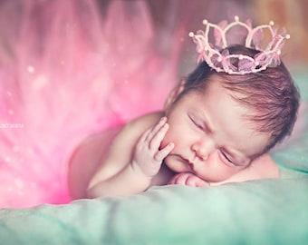 Newborn Crown Baby crown Crown headband Birthday crown First birthday crown Princess crown Newborn photo prop Photo Prop Newborn outfit girl