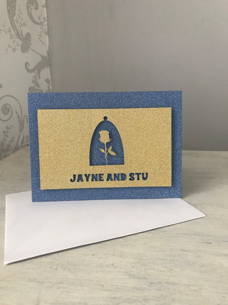 Enchanted Rose Greeting Card Wedding Engagement Anniversary Card.