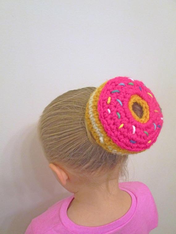 Donut Bun Cover Crochet Pattern Crochet Bun Cover Ballerina | Etsy