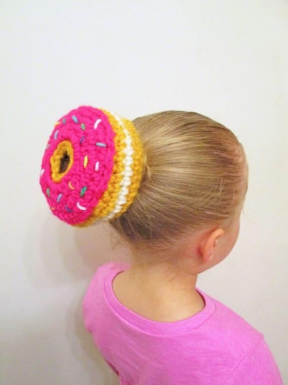 Donut Bun Cover Crochet Pattern Crochet Bun Cover Ballerina Etsy