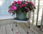 metal step stool,garden decor,patio plant stand,industrial shop step stool,rustic stool,barn decor,photography stool,childs stool,