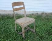 Vintage school chair, kindergarten chair,plant stand,patio decor,child 39 s chair,nursery decor,metal childs chair,children photography prop