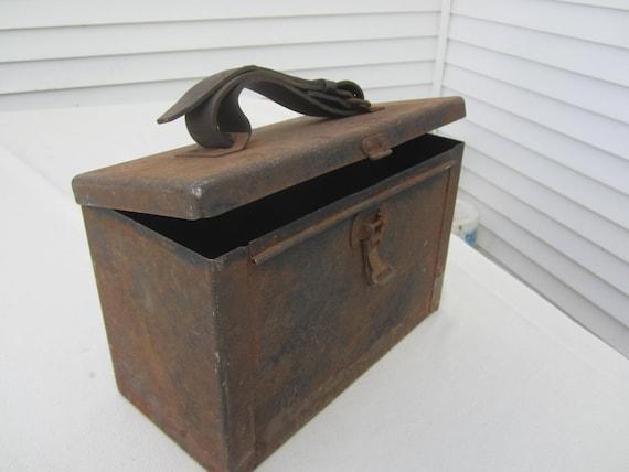 Bon Metal Storage Box Industrial Metal Box Rustic Decor Man