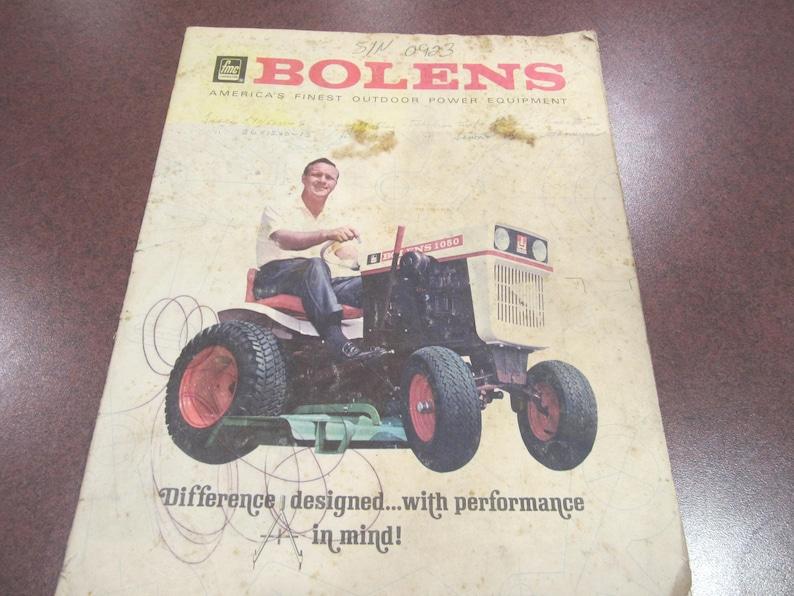 1960s Bolens Lawn Tractor brochure, vintage Bolens lawn tractor, Bolens,  vintage lawn mower, vintage lawn tractor brochure