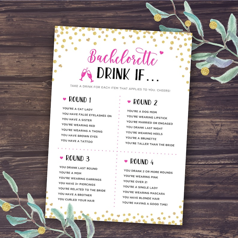 image about Printable Bachelorette Party Games named Bachelorette Occasion Game titles, Consume If Activity, Printable Bachelorette Game titles, Hens Night time, Chicken Occasion, Gold, Purple, Black, Ingesting, Immediate Obtain
