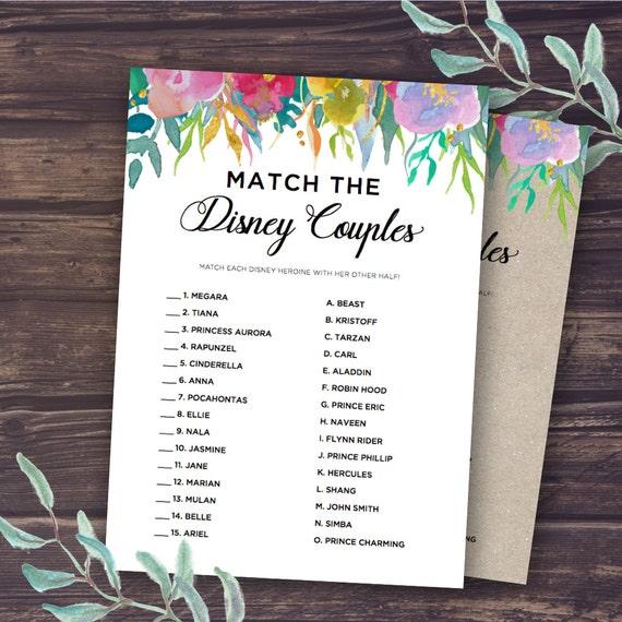disney bridal shower games