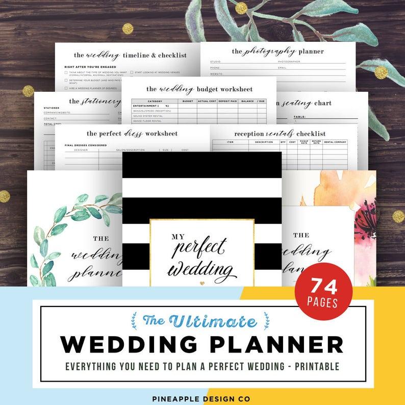Wedding Planner Printable Wedding Planning Book Printable image 0