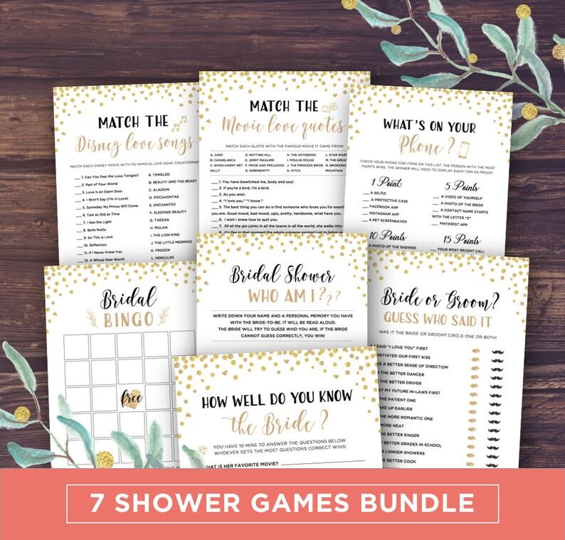 24467b974a79 Bridal Shower Games Printable Package Wedding Shower Games