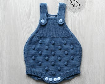 ebde23c76145 Knitted baby romper
