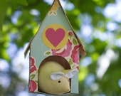PDF Pattern - 'House for a Mouse' - Fabric Mouse Softie with Paper House  - Instant Digital Download - Plush Children's Toy