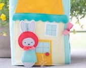 PDF Pattern - 'Rabbit's Garden' - Felt Book / Softie  - Instant Digital Download - Plush Children's Book and Toy