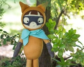 PDF Pattern - 'Bandit'  -  Felt Fox Boy Softie Doll - Instant Digital Download - Plush Children's Toy