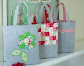PDF Pattern - 'Three Bags Full' - Linen Christmas Gift Bags - Instant Digital Download