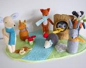 PDF Pattern - 'Hill Top Fox' -  3 Pattern Bundle Felt Squirrel, Owl, Deer, Rabbit, Hedgehog Softie  - Instant Digital Download