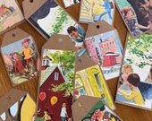 Handmade Brown Paper Gift Tags - Made from the pages of Vintage Golden Books