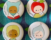 Badges Pins Brooch Button Cute Characters Children Clips