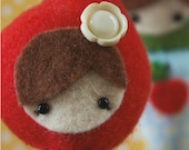 PDF Pattern - 'Dimple Dumpling Dolls'  -  teeny tiny felt and fabric doll decorations  - Instant Digital Download - Plush Toy