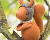 PDF Pattern - 'Thrift' - Felt Squirrel Softie - Instant Digital Download - Plush Children's Toy